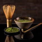 pulverisierter grüner Tee - Matcha