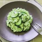 Risotto mit Matcha und Zucchini