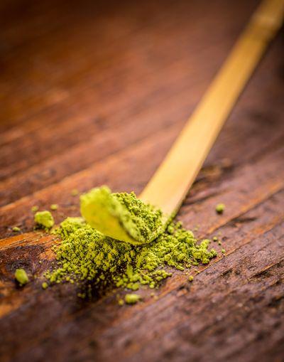Bambuslöffel zur Matchatee Zubereitung